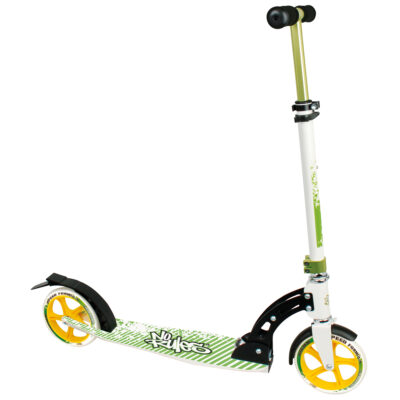 Aluminium Scooter No Rules 180 mm black/green/yellow