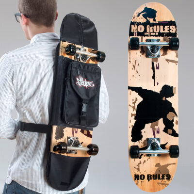 Skateboard No Rules, Abec 5 with backpack